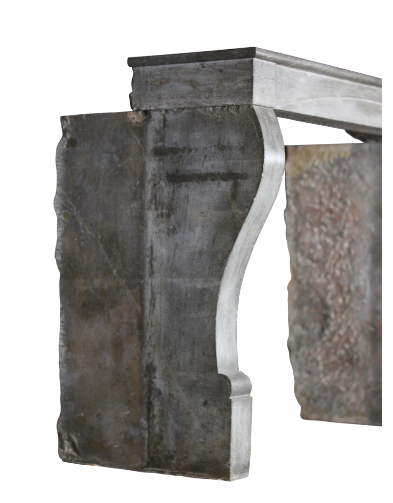 Timeless Bicolor French Vintage Fireplace Mantle