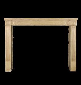 Klassisches Französisch Kalkstein Kaminmaske Für Gemütliche zeitloses Innenraum-Styling