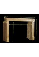 The Antique Fireplace Bank Clásica Francesa Duro Piedra Caliza Chimenea Rodean Un Agradable Diseño Interior Atemporal