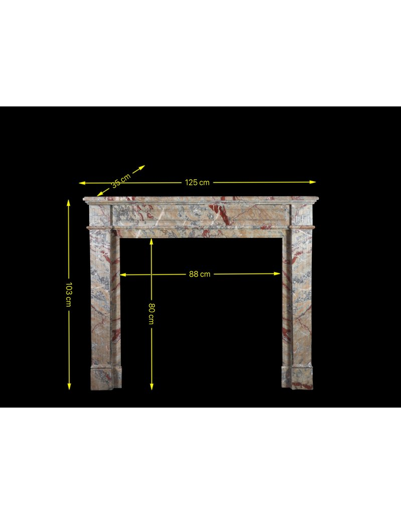 Small French Marble Fireplace Surround