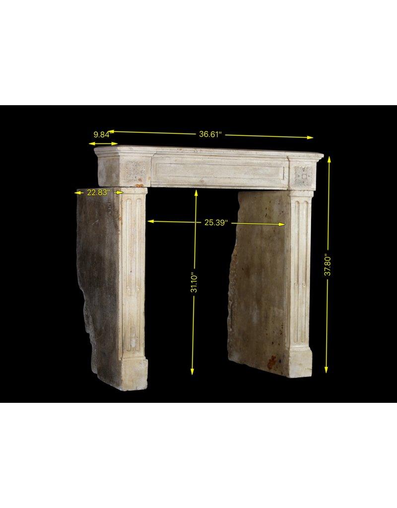 Kleines Antike Kalkstein Kamin im Französischem Landstil