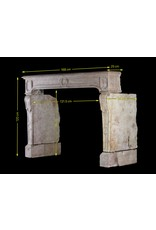 The Antique Fireplace Bank Classic French Antique Hard Stone Fireplace Surround