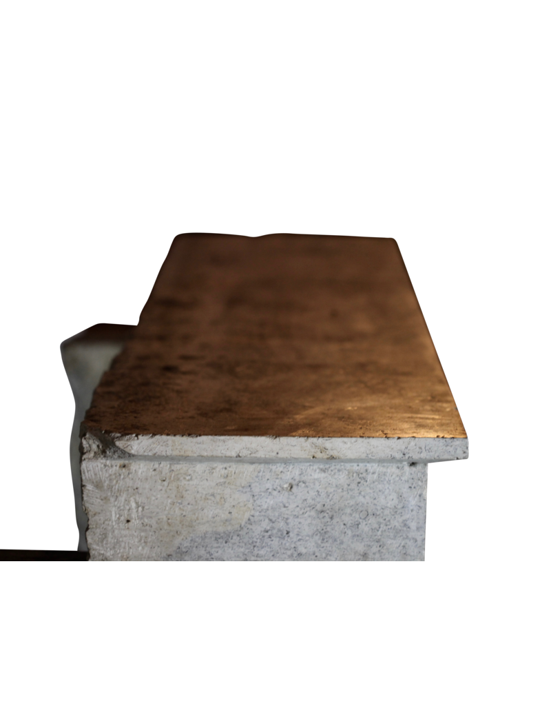 Zweifarbig Französisch Antiken Stein Kamin