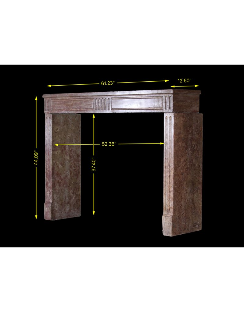 The Antique Fireplace Bank Fine Straight French Fireplace Mantle