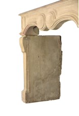 French Chique Stone Antique Fireplace Surround