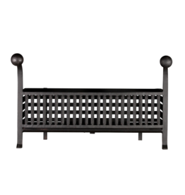 The Antique Fireplace Bank Grand Coal And Wood Basket In Wrought Iron