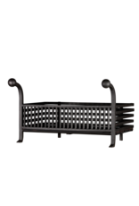 Grand Coal And Wood Basket In Wrought Iron