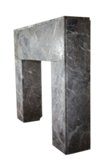 Belgian Art Deco Marble Fireplace