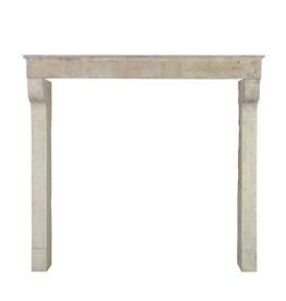 The Antique Fireplace Bank French Rustic Limestone 5 Element Fireplace Surround