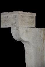 Francés Rústico De Piedra Caliza 5 Elemento Cheminea