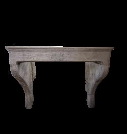 Französisch Land Kalkstein Antike Kaminmaske