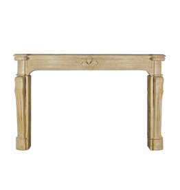 Grand French Country Vintage Limestone Fireplace Surround