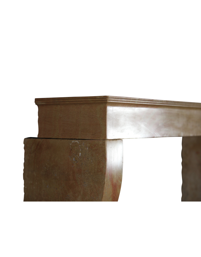 The Antique Fireplace Bank French Vintage Bicolor Limestone Surround