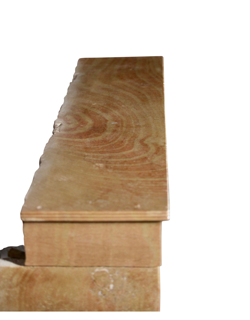 Erstellt Von Natur Französisch Jahrgang Zweifarbig Kalkstein Kamin