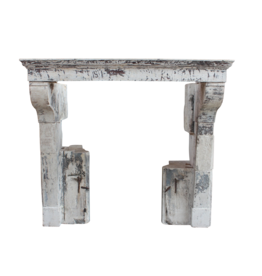The Antique Fireplace Bank French Rustic Limestone Fireplace Surround