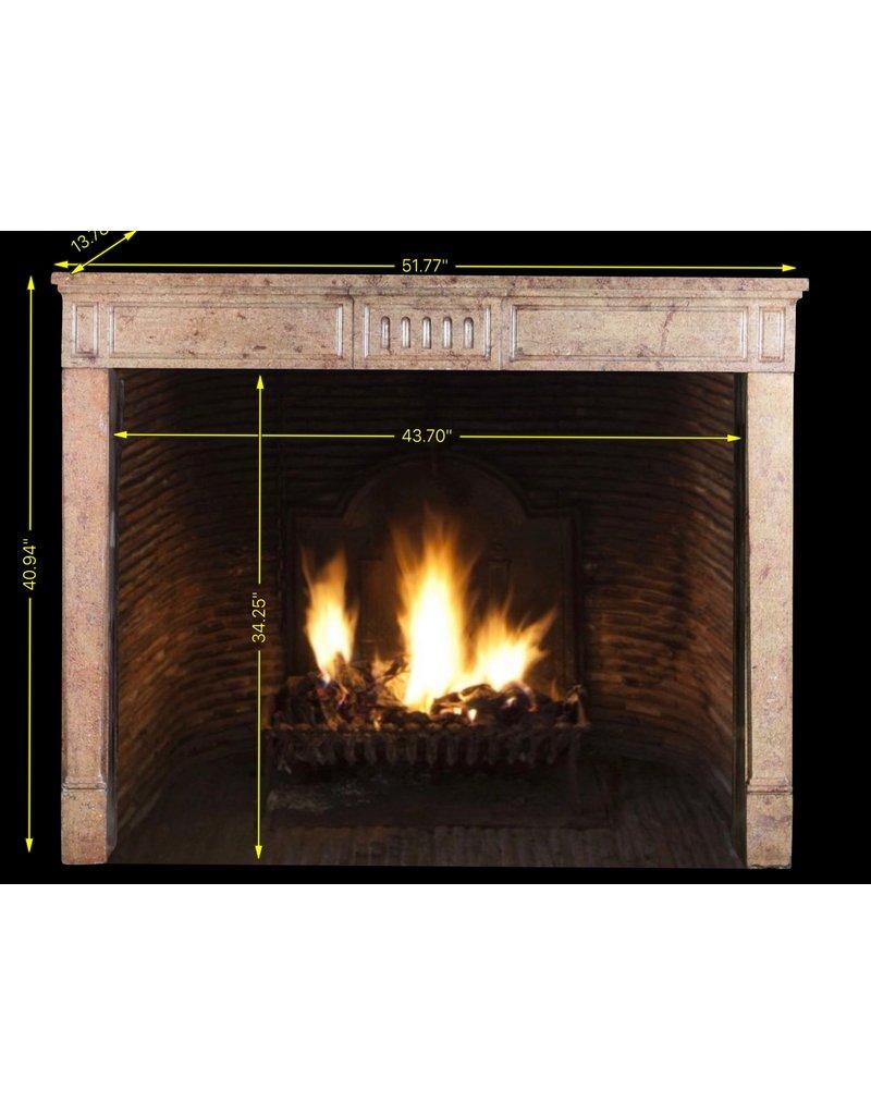 Classic French Louis XVI Period Stone Fireplace Surround