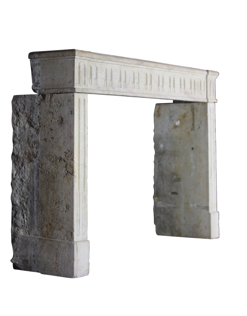 Classic French Hard Stone Fireplace Surround