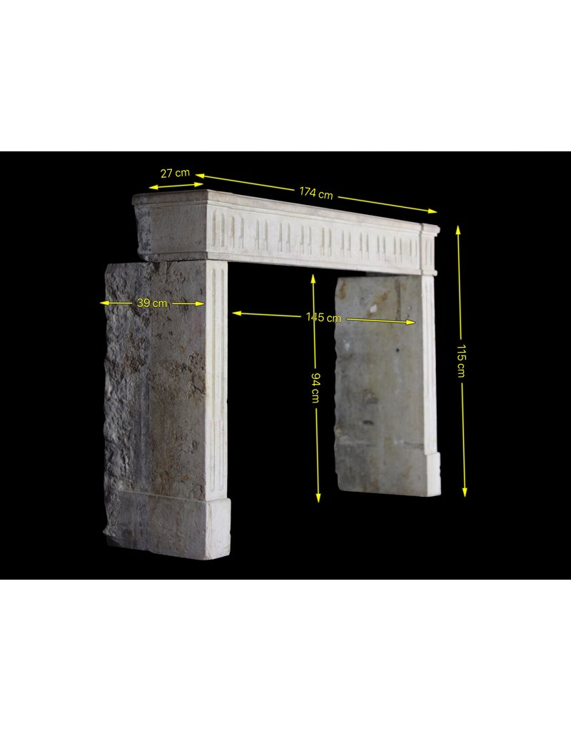 The Antique Fireplace Bank Classic French Hard Stone Fireplace Surround