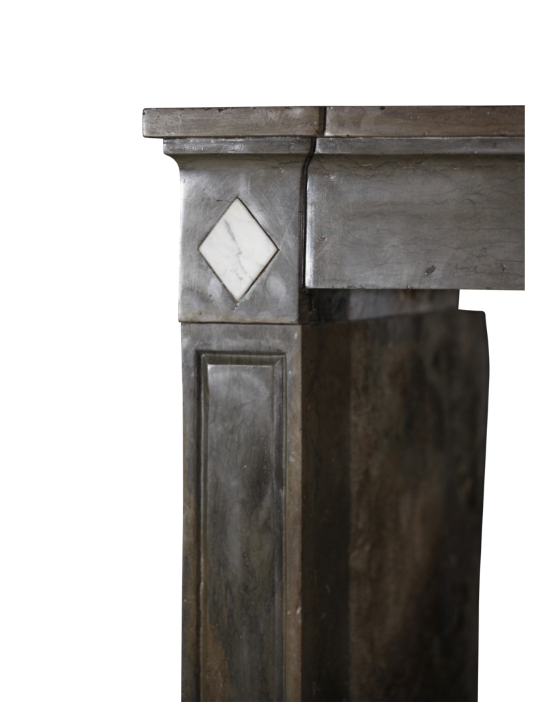Classic French Bicolor Hard Stone Fireplace Surround