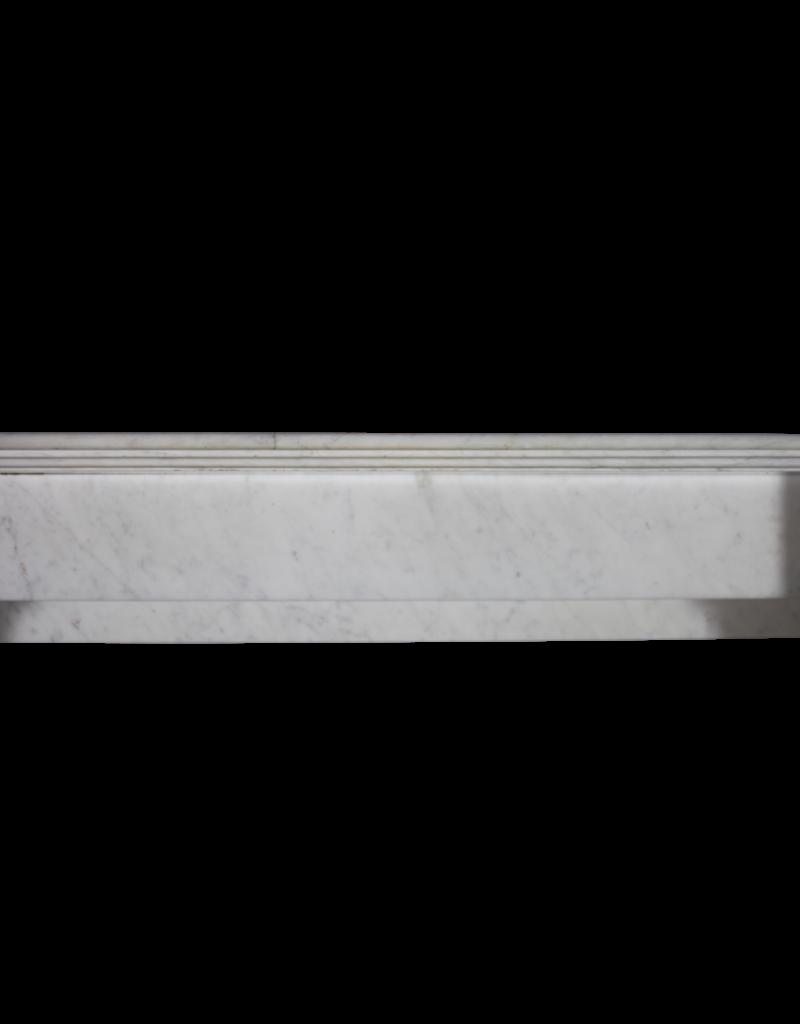 Inusual Del Siglo 19 Elementos Manto De Chimenea De Mármol Blanco