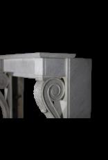 Ungewöhnliche 19. Jahrhundert Elemente Kamin Mantel Aus Weißen Marmor