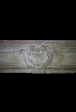 Kleines Französisch Kalkstein Kaminmaske
