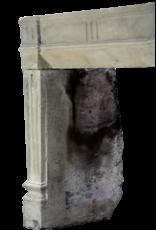 Francés Rústico De Piedra Caliza Chimenea Surround