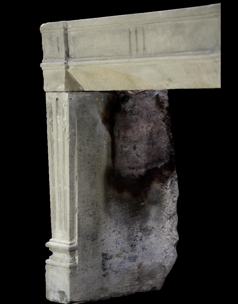 French Rustic Limestone Fireplace Surround
