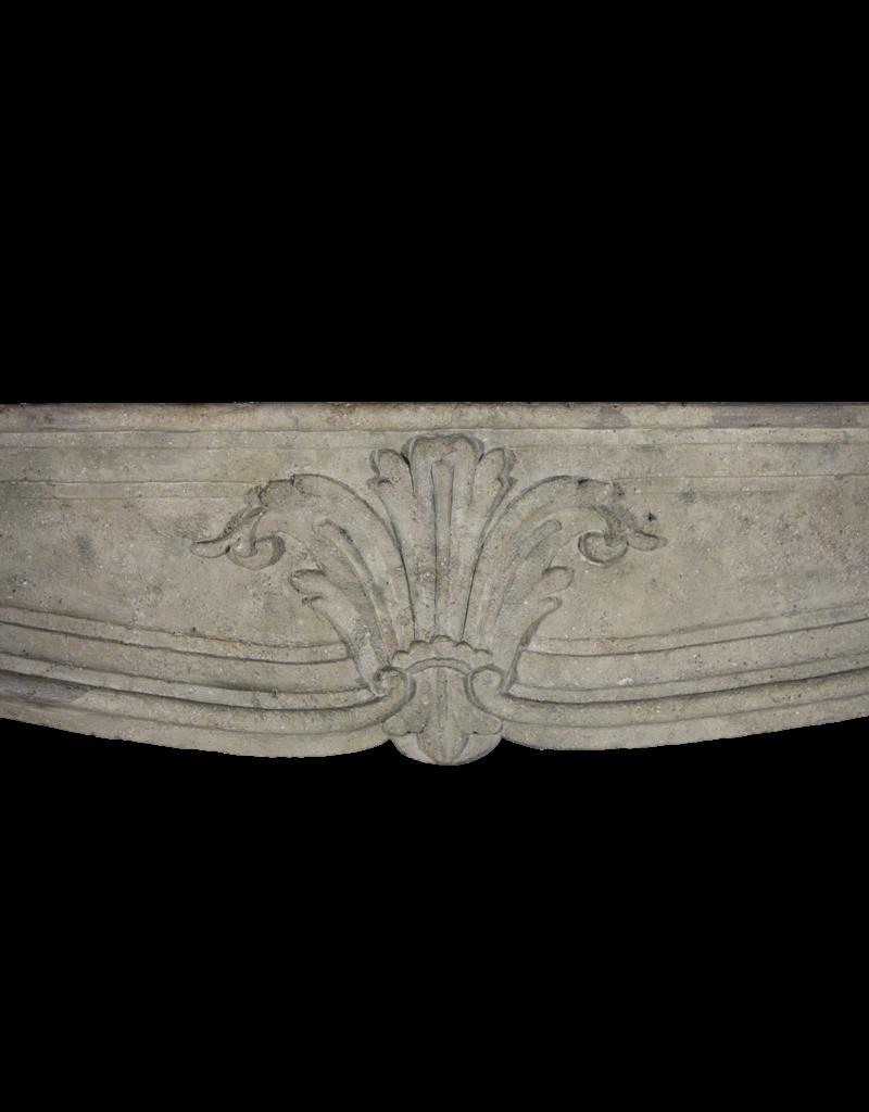 18. Jahrhundert Französisch Klassiker Kalkstein Kaminmaske