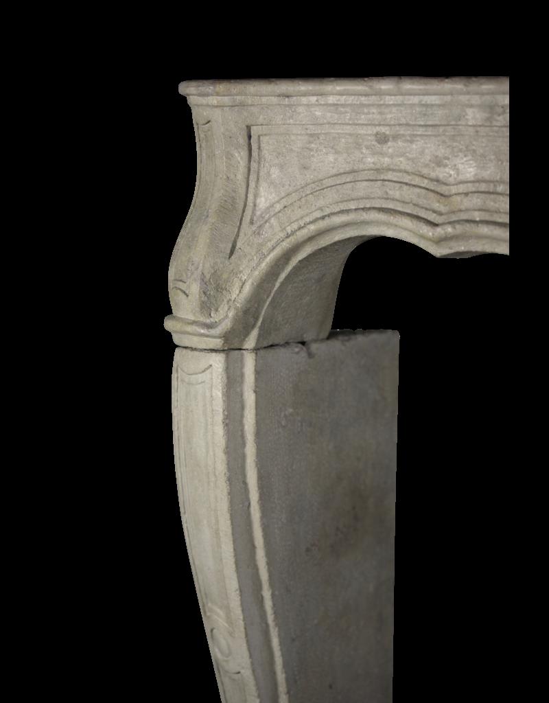 18Th Century French Classic Limestone Fireplace Surround