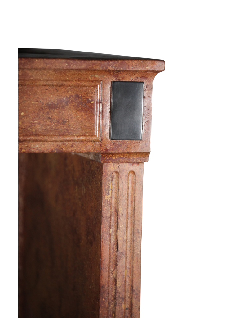 Chique French Directoire Style Stone Fireplace Surround