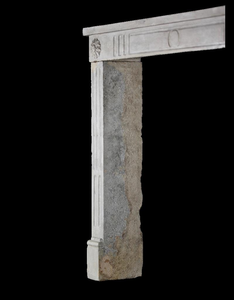 Französisch Landstil Zweifarbig Kalkstein Antike Kaminmaske