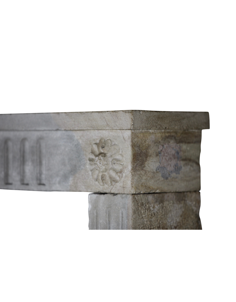 The Antique Fireplace Bank French Country Bicolor Limestone Antique Fireplace Surround