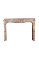 The Antique Fireplace Bank French Burgundy Bicolor Vintage Fireplace Surround