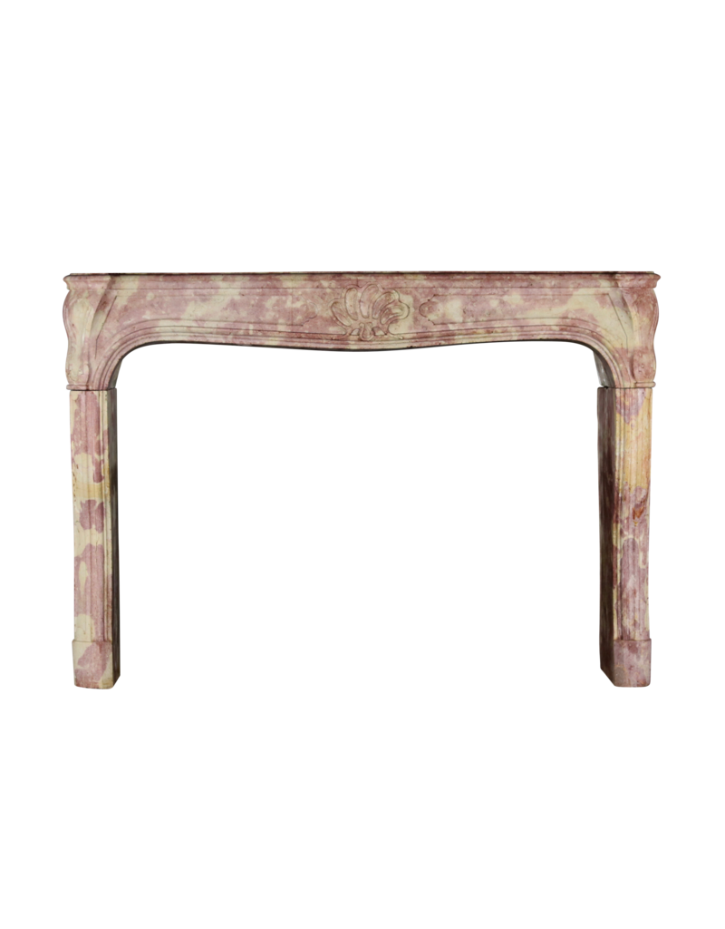 French Burgundy Bicolor Vintage Fireplace Surround