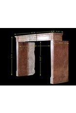 Fine French Directoire Style Stone Fireplace Mantle