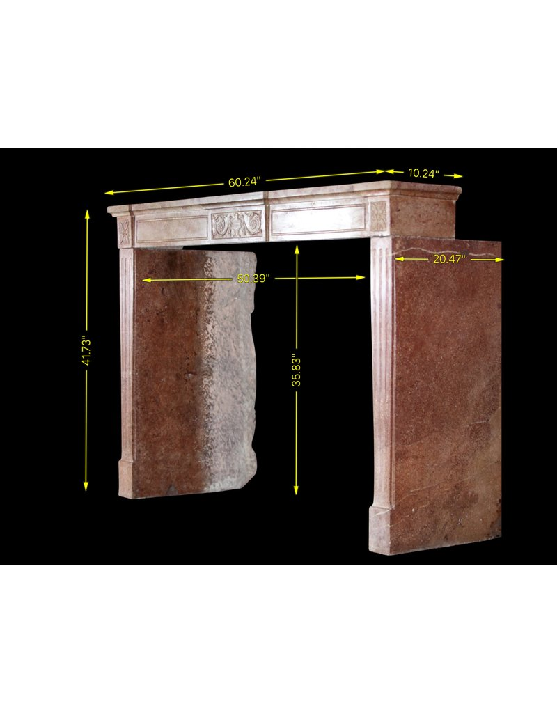 The Antique Fireplace Bank Fine French Directoire Style Stone Fireplace Mantle