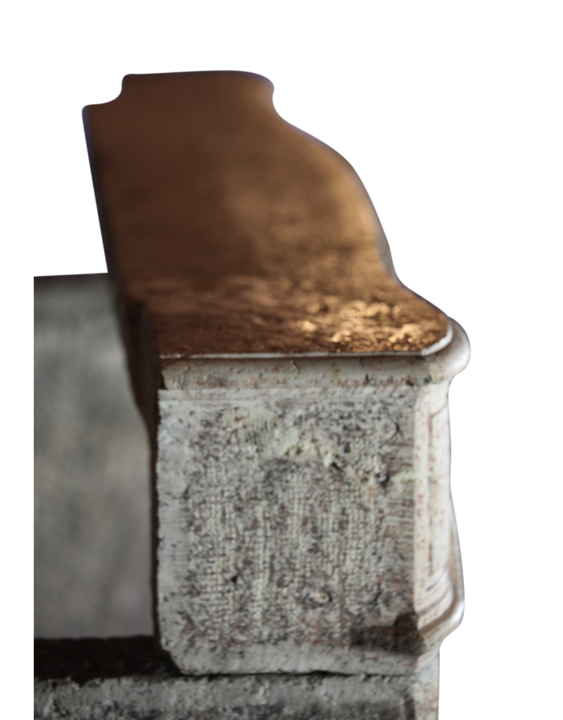 Elegante Clásica De Piedra Caliza Francesa Chimenea