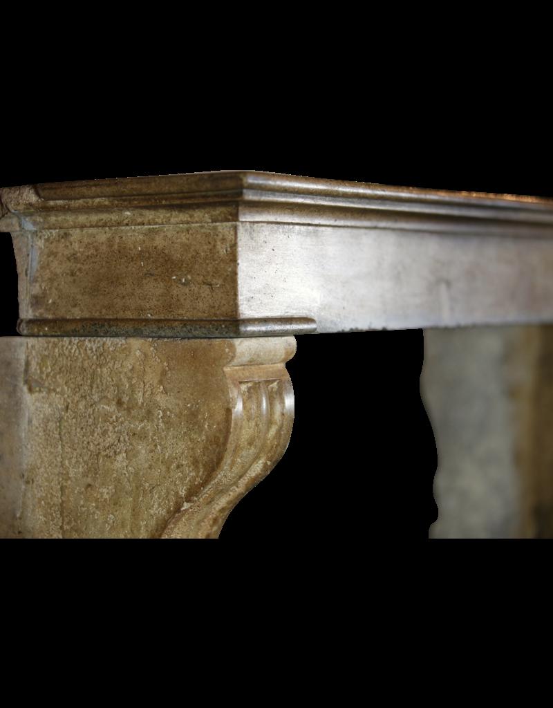 Gemütliche Kleine Rustikale Interieur Kaminmaske