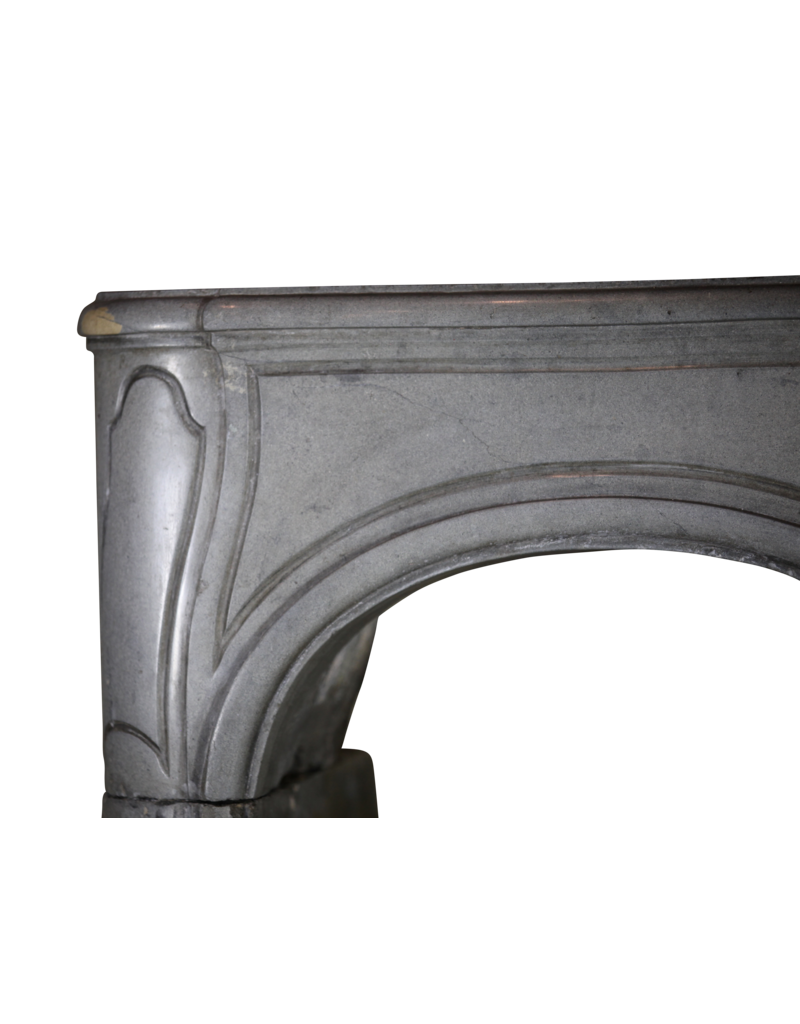 French Bicolor Hard Stone Fireplace Surround