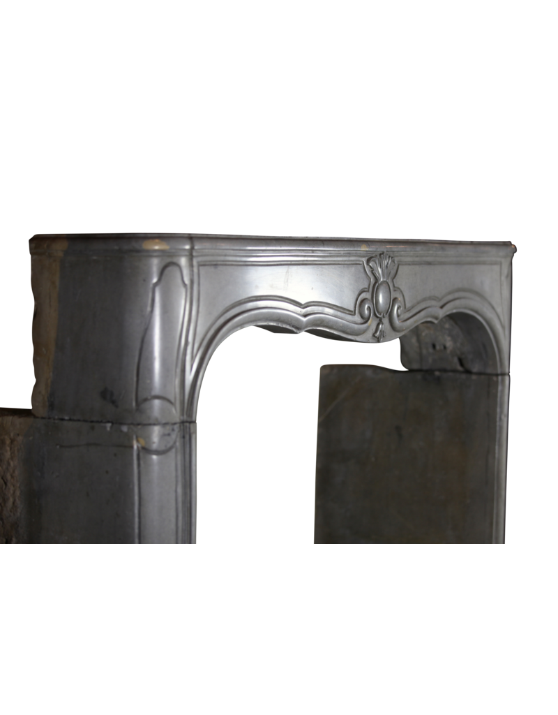 The Antique Fireplace Bank French Bicolor Hard Stone Fireplace Surround
