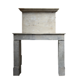 French Rustic Limestone Fireplace Surround