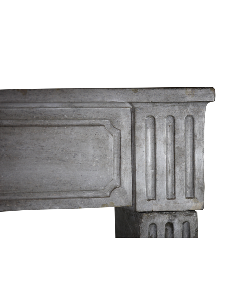Classic French Bicolor Vintage Fireplace Surround