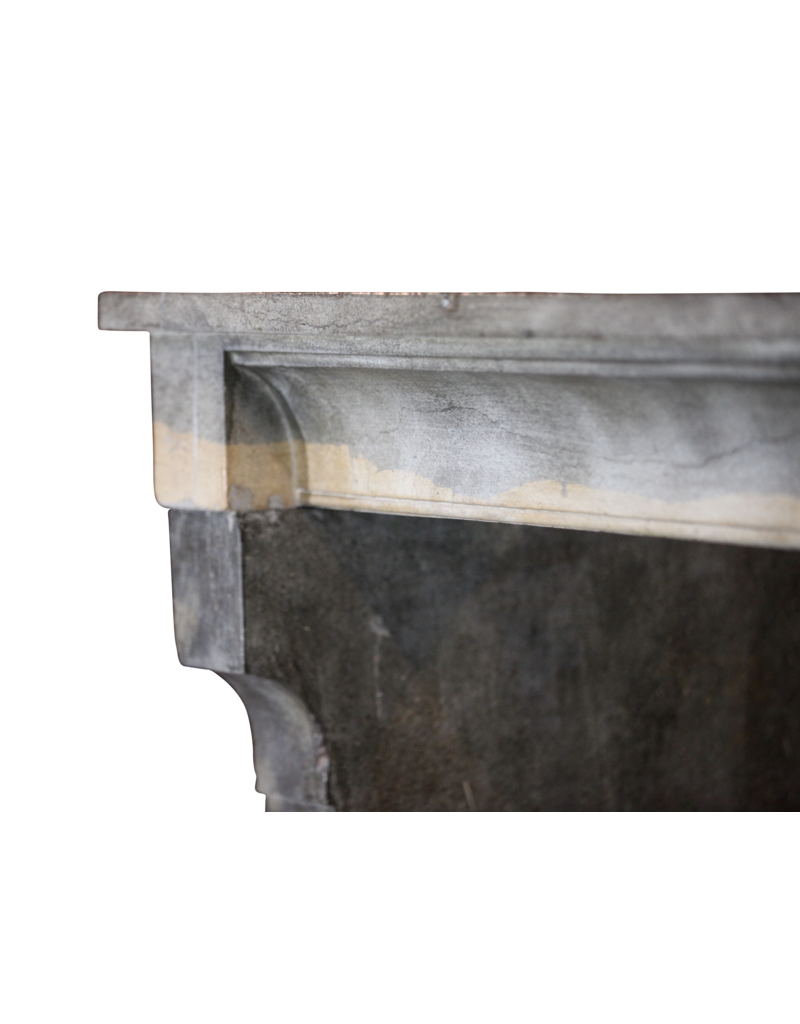 The Antique Fireplace Bank Wide Vintage French Bicolor Stone Fireplace Surround