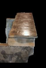 Breite Weinlese Französisch Zweifarbig Stein Kaminmaske