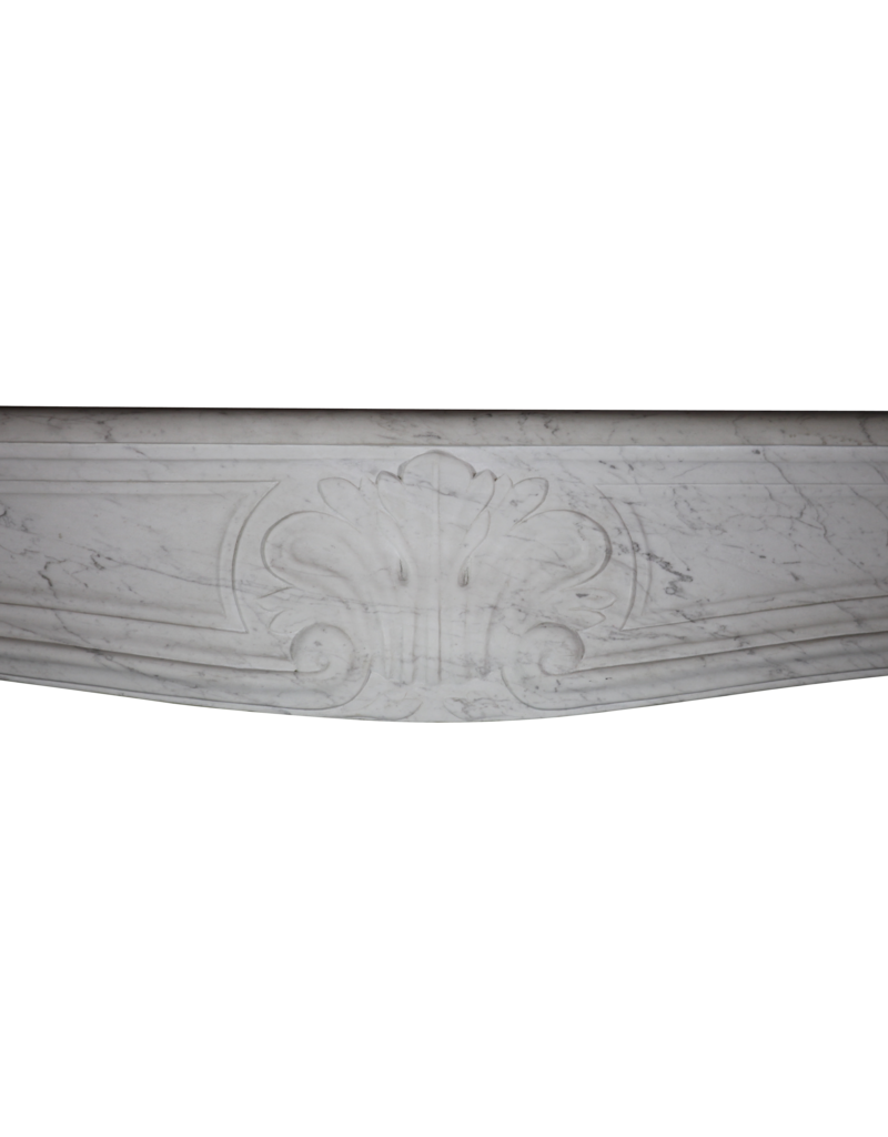 French White Carrara Marble Fireplace Surround