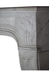 Francés Chimenea De Mármol Blanco De Carrara
