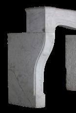 Französisch Weißer Carrara-Marmor Kaminmaske