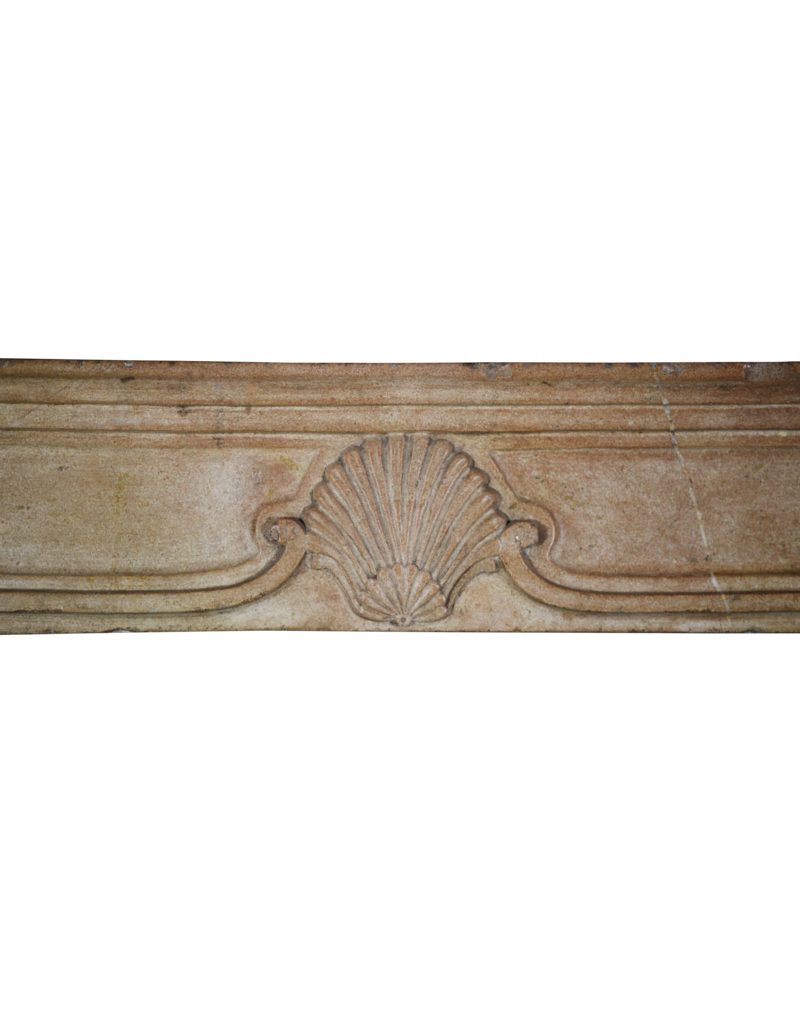 Chique French Antique Stone Fireplace Surround