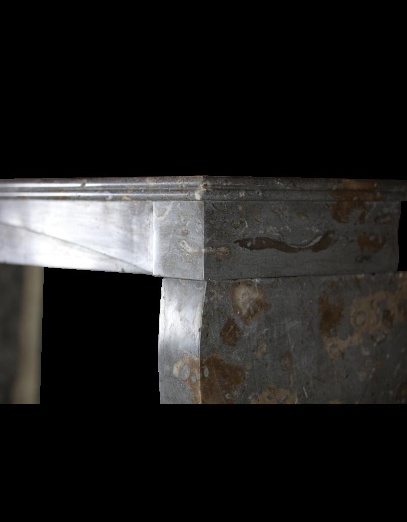 Französisch Zweifarbig zeitloses Kalkstein Kaminmaske